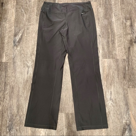 Nike Dri-Fit Gray Boot Cut Legging Pants Large
